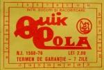 Eticheta Quick Cola