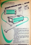 Reclame Aspirator AP10 din Almanah 1986