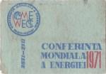 Cutie Conferinta Mondiala a Energiei 1971