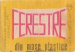 Cutie Ferestre din Mase Plastice 1976