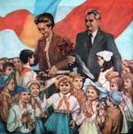 Ilustratie - Ceausesti cu Soimii & Pionierii