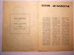 Program Concert Louis Amstrong in Romania 1965 (2)