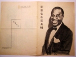 Program Concert Louis Amstrong in Romania 1965