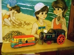 Locomotiva & Autobuz din tabla